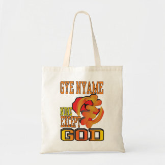 GYE NYAME/NONE EXCEPT GOD TOTE BAG