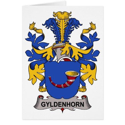 Gyldenhorn Family Crest Greeting Card