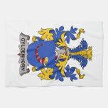 Gyldenhorn Family Crest Hand Towel