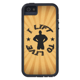 GYM AND BODYBUILDING I LIFT TO LIVE COVER FOR iPhone 5