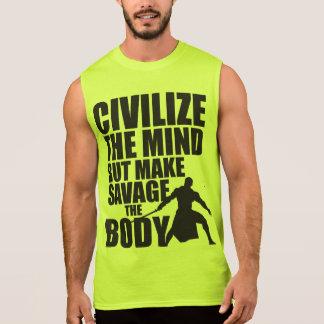 Gym and Fitness Motivation - Make Savage The Body Sleeveless Shirt