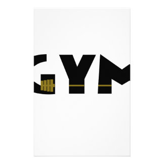 Gym and fitness stationery
