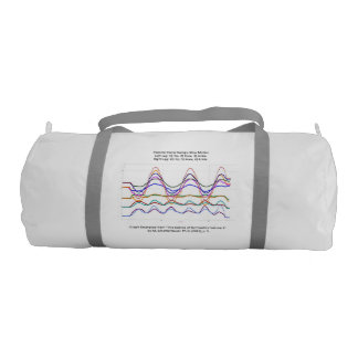 Gym Bag with Graph of Pommel Horse Swings