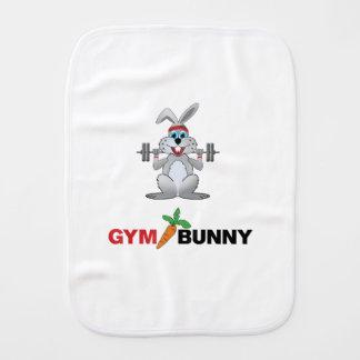 gym bunny 2 baby burp cloth