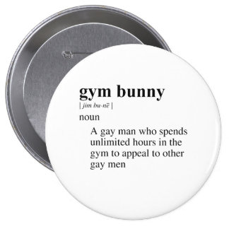 GYM BUNNY BUTTONS
