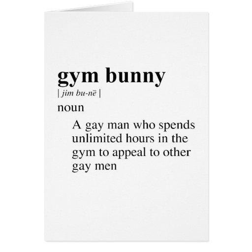 GYM BUNNY GREETING CARD
