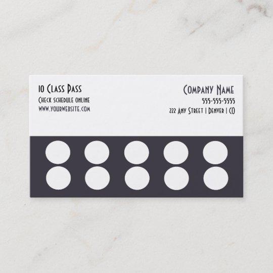 Gym business card 10 class pass card zazzle gym business card 10 class pass card colourmoves