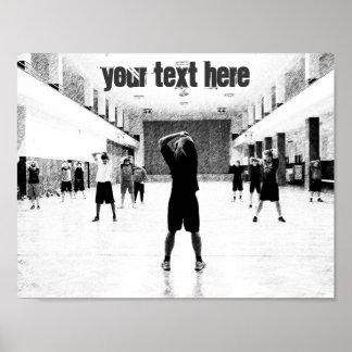 Gym customizable text motivational poster