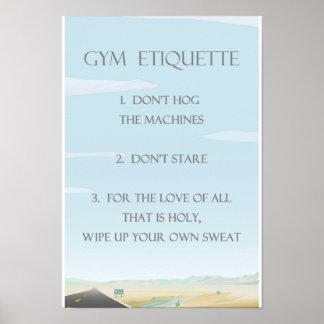 Gym Etiquette Poster
