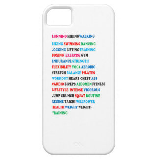 GYM EXERCISE Tag Words RUNNING HIKING WALKING iPhone 5/5S Cover