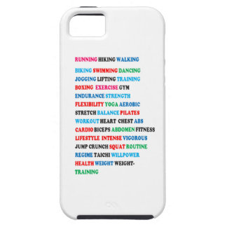 GYM EXERCISE Tag Words RUNNING HIKING WALKING iPhone 5 Cover