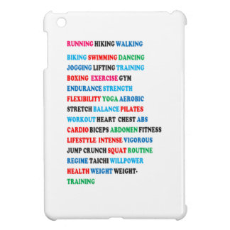 GYM EXERCISE Tag Words RUNNING HIKING WALKING Case For The iPad Mini