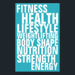 """Gym fitness club bold text inspiration blue flyer<br><div class=""""desc"""">Stand out big text look cover. Ideal for fitness clubs and fitness personal trainers.</div>"""