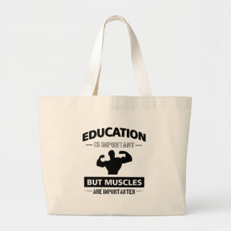 Gym fitness designs large tote bag