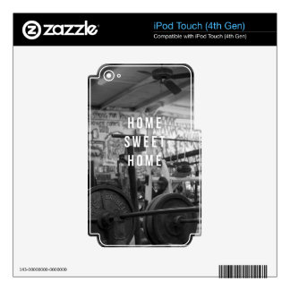 Gym - Home Sweet Home - Barbell - Workout iPod Touch 4G Decal