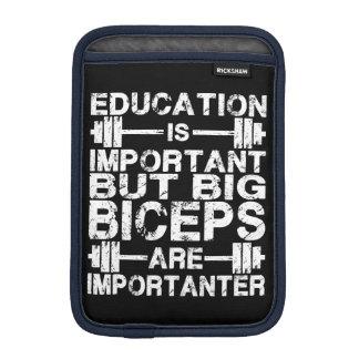 Gym Humor - Big Biceps Are Importanter iPad Mini Sleeve