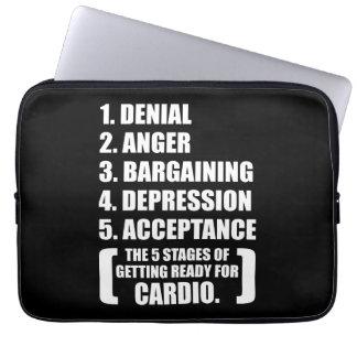 Gym Humor - Cardio Laptop Sleeves