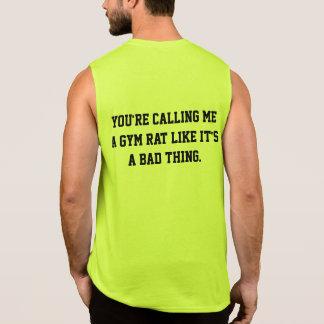 Gym Humor Gym Rat Sleeveless T-shirt