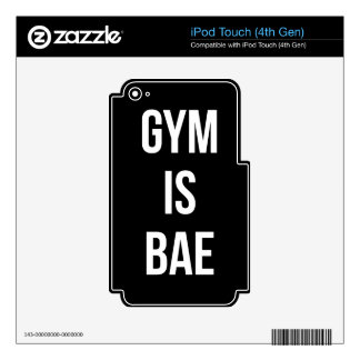Gym Is Bae - Funny Workout Inspirational Decal For iPod Touch 4G