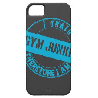 GYM JUNKIE. I TRAIN THEREFORE I AM. light blue iPhone 5 Case