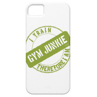 GYM JUNKIE. I TRAIN THEREFORE I AM. light green iPhone 5 Covers