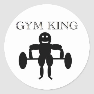 Gym King Classic Round Sticker