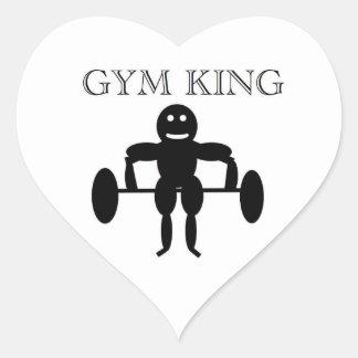 Gym King Heart Sticker