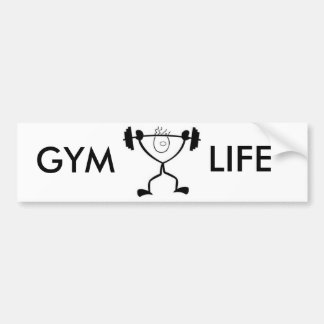 GYM LIFE BUMPER STICKER