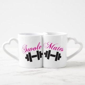 Gym Lover's Mug - Swole Mates Lovers Mug Set