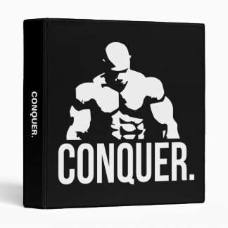 Gym Motivation - CONQUER 3 Ring Binder