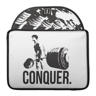 Gym Motivation - CONQUER MacBook Pro Sleeves