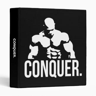Gym Motivation - CONQUER Vinyl Binder