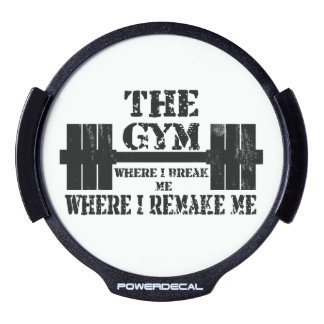 Gym Motivation LED Car Decal