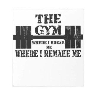 Gym Motivation Note Pad