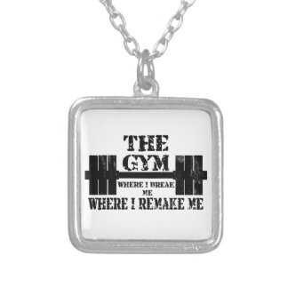 Gym Motivation Silver Plated Necklace