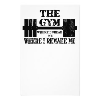 Gym Motivation Stationery