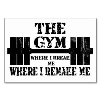 Gym Motivation Table Cards