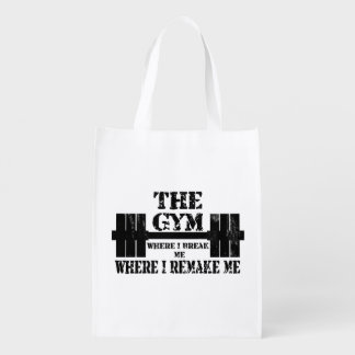 Gym Motivation Reusable Grocery Bags