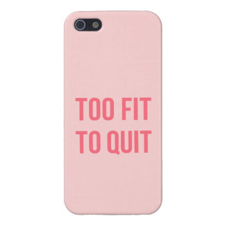 Gym Motivational Quote Too Fit Hot Pink iPhone SE/5/5s Case