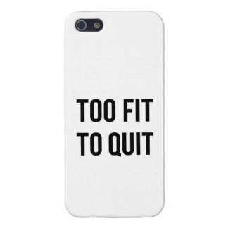 Gym Motivational Quotes Too Fit Black White Case For iPhone SE/5/5s