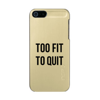 Gym Motivational Quotes Too Fit Black White Incipio Feather® Shine iPhone 5 Case