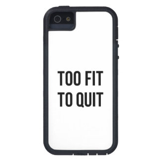 Gym Motivational Quotes Too Fit Black White iPhone SE/5/5s Case