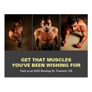 Gym Opening   Fitness Centre Marketing Direct Mail Postcard