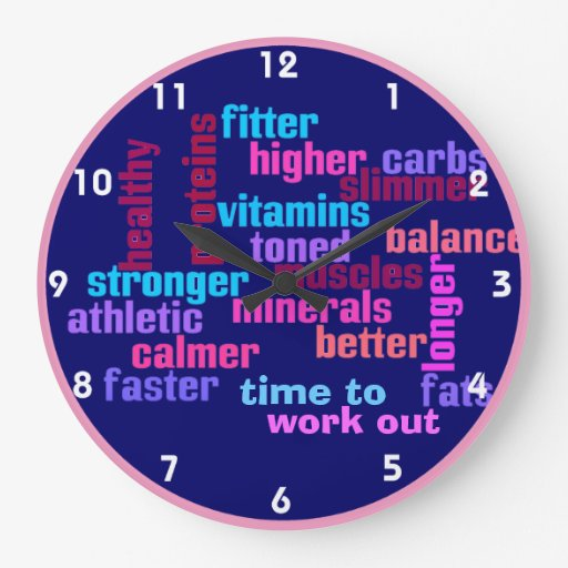 gym or sports motivational clock