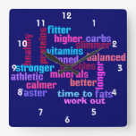 gym or sports motivational clock square