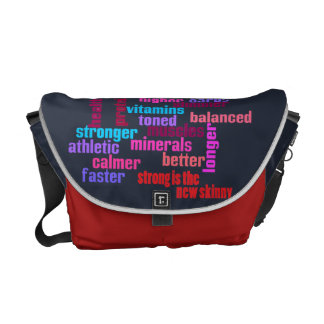 gym or sports motivational kit bag -red white blue messenger bags