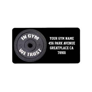 Gym Owner Funny Address Label