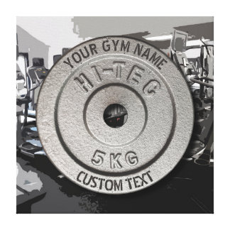 Gym Owner or User Fitness Funny Grey Edition Canvas Print