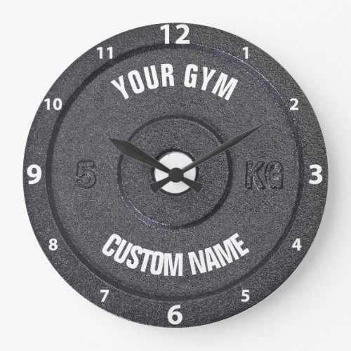 Gym Owner or User Funny White Numbers Clock