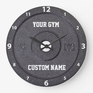 Gym Owner or User White Numbers Clock
